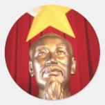 Líder del vietnamita de Ho Chi Minh Etiquetas Redondas