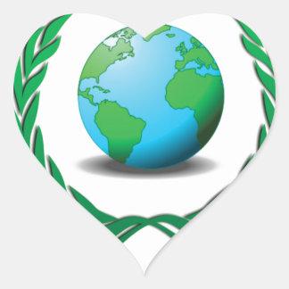 líder mundial pegatina en forma de corazón