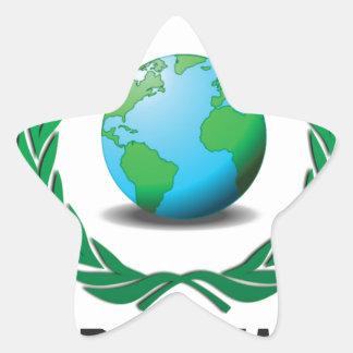 líder mundial pegatina en forma de estrella