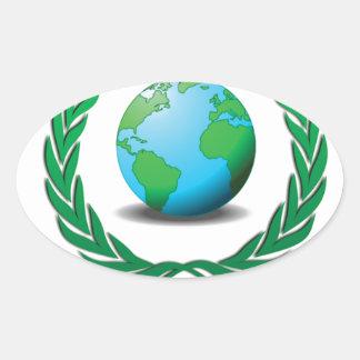 líder mundial pegatina ovalada