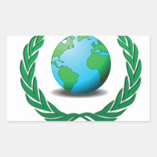 líder mundial pegatina rectangular