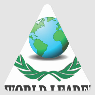 líder mundial pegatina triangular
