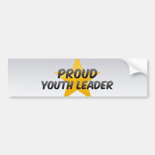 Líder orgulloso de la juventud etiqueta de parachoque