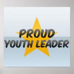 Líder orgulloso de la juventud posters