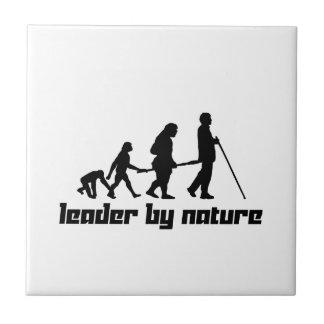 Líder por la naturaleza azulejo cuadrado pequeño