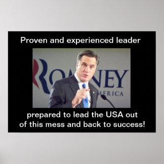 Líder probado y experimentado preparado para lleva poster