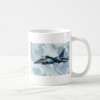 LÍDER ROJO DEL PERRO F-16 TAZA DE CAFÉ
