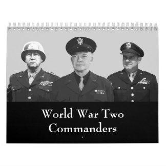 Líderes aliados de WW2 Calendarios De Pared