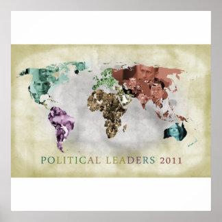 Líderes de 2011 por el continente póster