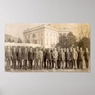 Líderes de Gam de la phi con Calvin Coolidge Posters