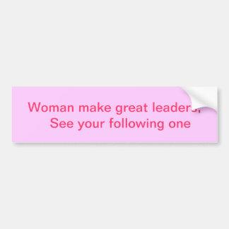 líderes de la mujer pegatina para auto