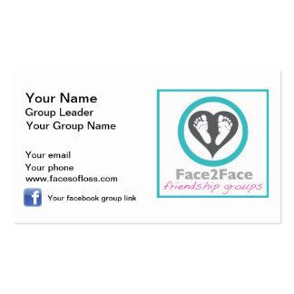Líderes del grupo de Face2Face Plantillas De Tarjeta De Negocio