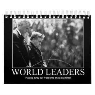 Líderes mundiales Pissing el calendario