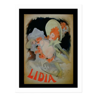 'Lidia', 1895 (colour litho) Postcard