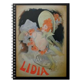 """Lidia"", 1895 (litho del color) Libretas Espirales"