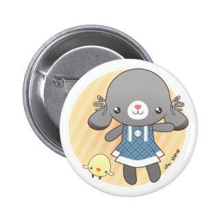 Lidia: The Bunny Amigurumi Button