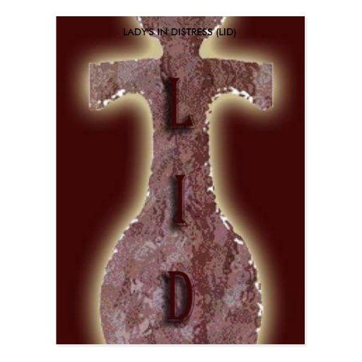 LIDLogo, LADY'S IN DISTRESS (LID) Postcard