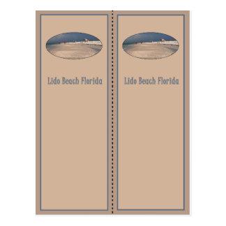 Lido Beach Florida Postcard Bookmark
