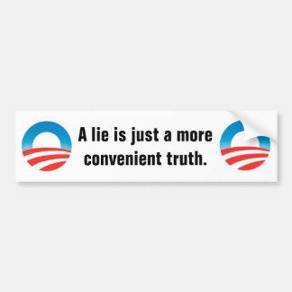 Lie is just a convenient truth bumper sticker car bumper sticker