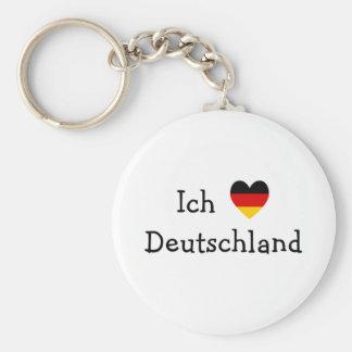 Liebe Deutschland de Ich Llavero Redondo Tipo Pin