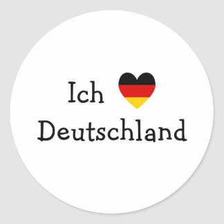 Liebe Deutschland de Ich Pegatina Redonda