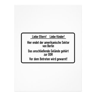 Liebe Eltern, Liebe Kinder, Berlin Wall, Germany S Personalized Letterhead