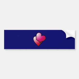 Liebe kann verletzen love can hurt bumper sticker
