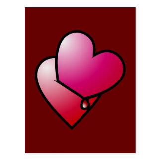 Liebe kann verletzen love can hurt postcard