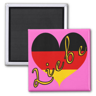Liebe (Love) Germany Heart Magnet
