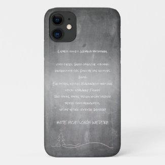 Lieber guter Weihnachtsmann iPhone 11 Case