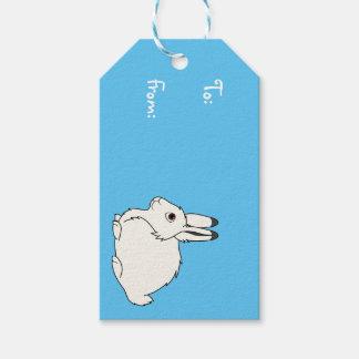 Liebres árticas blancas etiquetas para regalos