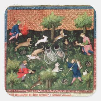 Liebres de la caza fol.92 de ms Fr 616, del Livre Pegatina Cuadrada