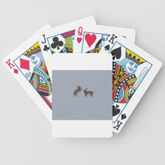 Liebres del boxeo baraja cartas de poker