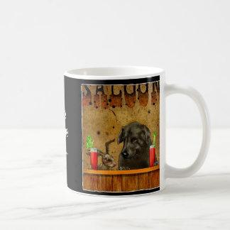 Liebres del perro taza básica blanca