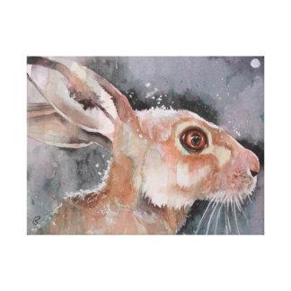 Liebres enojadas de marzo. Conejos Impresión De Lienzo