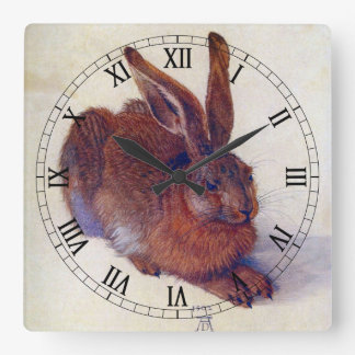 Liebres jovenes de Albrecht Durer, arte Reloj