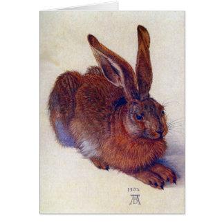 Liebres jovenes de Albrecht Durer, arte renacentis Felicitación