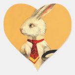 Liebres mágicas del conejo de la tripleta de colcomanias corazon