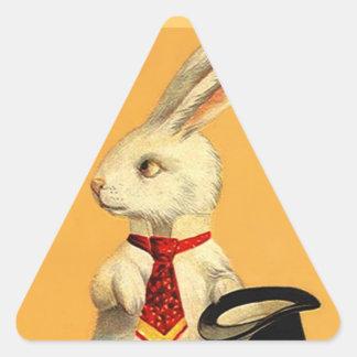 Liebres mágicas del conejo de la tripleta de pegatina triangular