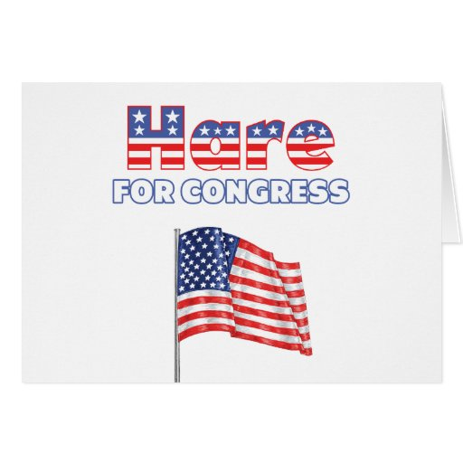 Liebres para la bandera americana patriótica del c felicitaciones