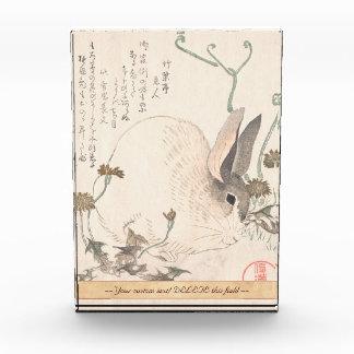 Liebres y diente de león, Kubo Shunman, arte japon