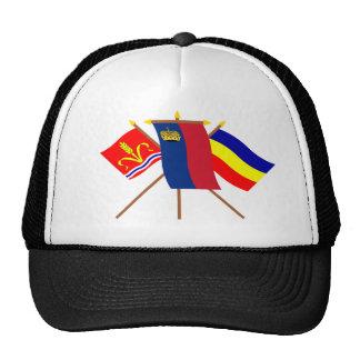 Liechtenstein and Ruggell Flags Hats