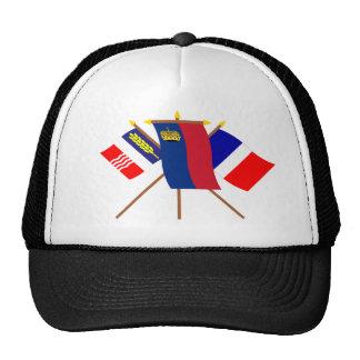 Liechtenstein and Schaan Flags Hats