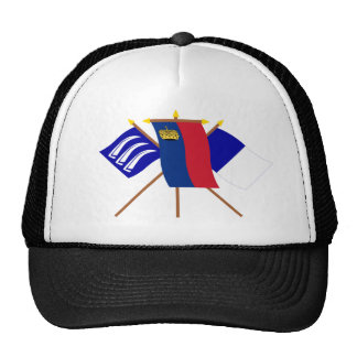 Liechtenstein and Triesen Flags Trucker Hats