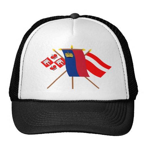 Liechtenstein and Vaduz Flags Trucker Hat