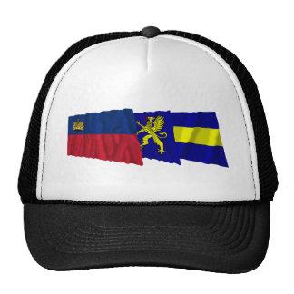Liechtenstein & Balzers Waving Flags Mesh Hats