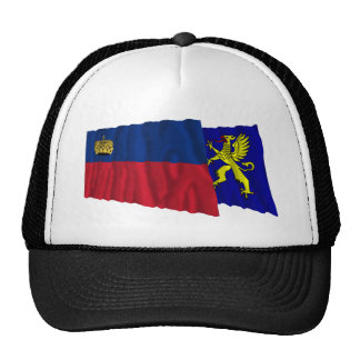 Liechtenstein & Balzers Waving Flags Mesh Hat