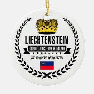 Liechtenstein Ceramic Ornament