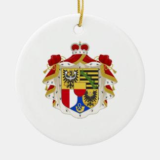 Liechtenstein Coat of Arms Ceramic Ornament