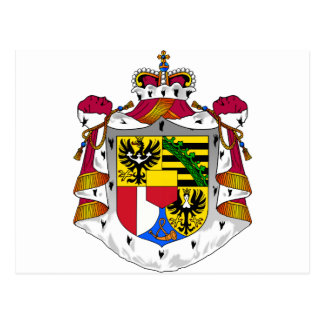 Liechtenstein Coat Of Arms Postcard